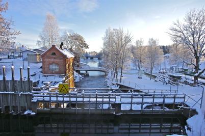 15 januari 2016 - I Töcksfors var det strålande vinterväder.