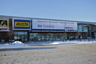 21 januari 2016 - Vid Handelsparken fortsatte byggandet av nya ICA-butiken.