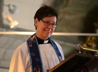 24 januari 2016 - Domprosten Helen Lundberg från Västerås gästpredikade i Töcksmarks kyrka.