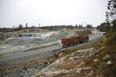 1 februari 2016 - På norska sidan pågick bygget av nya E18.