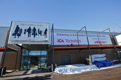 23 februari 2016 - Och bygget av nya ICA-butiken fortsatte.