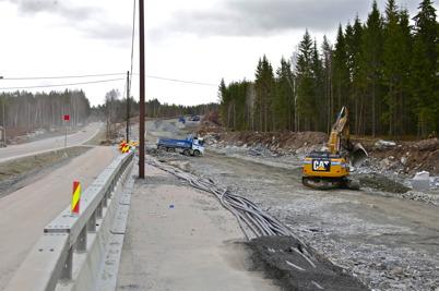 8 april 2016 - Och på norska sidan fortsatte byggandet av nya E18.