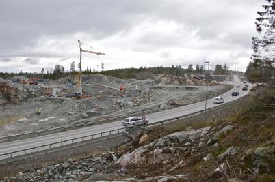8 april 2016 - På norska sidan fortsatte bygget av nya E18.