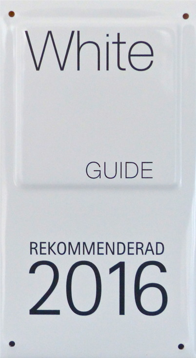 20 april 2016 - Waterside Restaurant blev återigen rekommenderade i White guide.