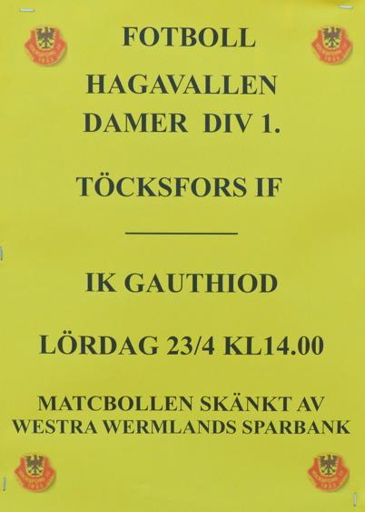 23 april 2016 - Så var det dags för division 1 premiär för Töcksfors IF:s A-lag damer.