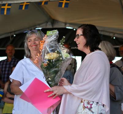 6 juni 2016 - Helen Börjesson, ägare av  Waterside Restaurant i Töcksfors, tilldelades priset  Claras Special.