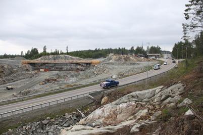 26 juni 2016 - På norska sidan byggde man nya E18.