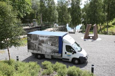 28 juni 2016 - Dalslands Kanal vidtog förberedelser för att kunna serva alla båtturister.