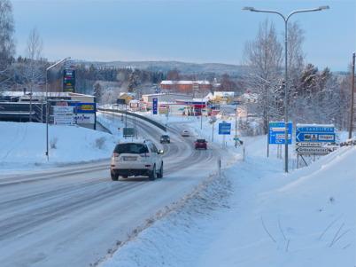 16 januari 2016 - Töcksfors låg inbäddat i snö.