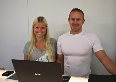 2 juli 2016 - Ann Kristin och Mikael hälsade alla välkomna till Gymmet i Töcksfors, som öppnade sin verksamhet i den nya träningslokalen vid Töcksfors brandstation.