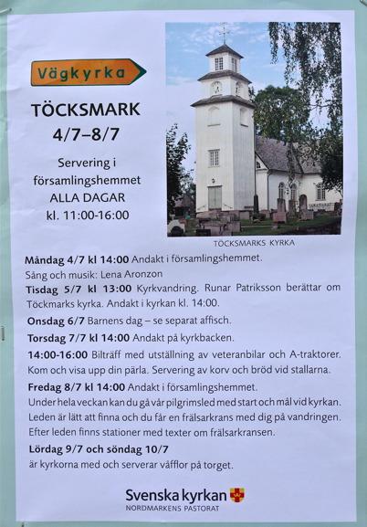 Töcksmarks församling ordnade Vägkyrka under Töcksmarksveckan.
