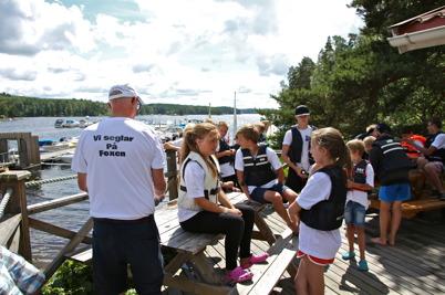 8 juli 2016 - Ledaren Göran Nilsson gick igenom förutsättningarna för kappseglingen Foxen Ocean Race.