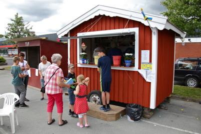 8 juli 2016 - Vid torget pågick Töcksmarks-veckans aktiviteter.
