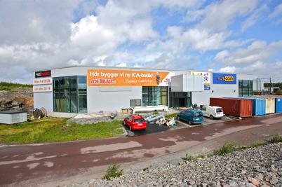 8 augusti 2016 - Vid Töcksfors Handelspark arbetades det intensivt med byggandet av nya ICA-butiken.