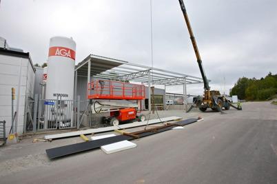 8 september 2016 - Och vid wermland mechanics gjordes de slutliga arbetena på utbyggnaden.