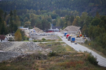 18 september 2016 - I Örje fortsatte bygget av nya E18.