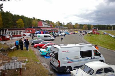 """8 oktober 2016 - Årjängs travbana lånades ut till arrangemanget """"Historiska Sprint & Back Cupen""""."""