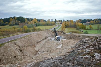18 oktober 2016 - Vid Hagavallen startade borrningen i berget.