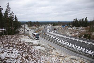 6 november 2016 - På norska sidan fortsatte arbetet med nya E18.