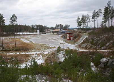 6 november 2016 - Och Kölens Sportcenter pudrades med lite snö.