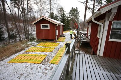 9 november 2016 - Så kunde man se uppstarten för byggandet av båtklubbens klubbstuga.