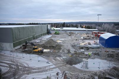 12 decmber 2016 - Utbyggnaden av Flexitfabriken gick framåt.