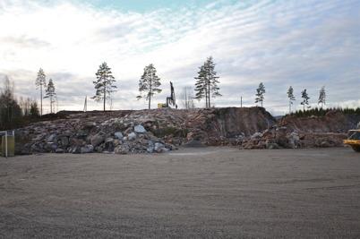 13 december 2016 - Borrningen i berget vid Hagavallen återupptogs för nästa sprängning.