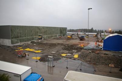 21 december 2016 - Utbyggnaden av Flexitfabriken tog fart.