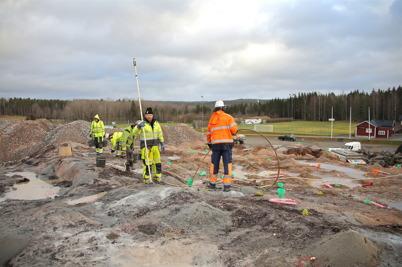 22 december 2016 - Vid Hagavallen laddades det för andra salvan i berget.