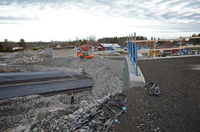 25 december 2016 - I Örje var allt klart för montering av stålbron Norges-porten.