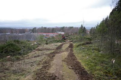 30 dcember 2016 - Skogen avverkades vid norra delen av Skärmons industriområde. Här ska nya industrivägen mellan Källhultets och Skärmons industriområde byggas.