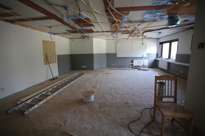 12 mars 2015 - Det som ska bli nya lektionssalen.