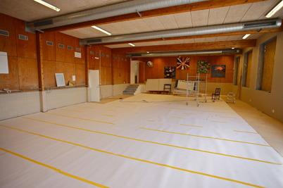 12 mars 2015 - Simbassängen är borta, här ska det bli lokal för styrketräning.