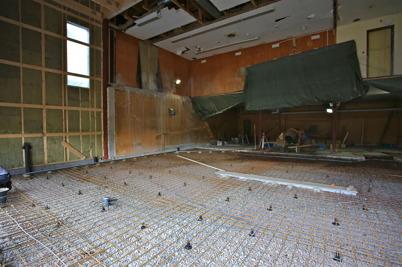 24 juni 2015 - Förberedelse för gjutning av golv i vagnhallen.