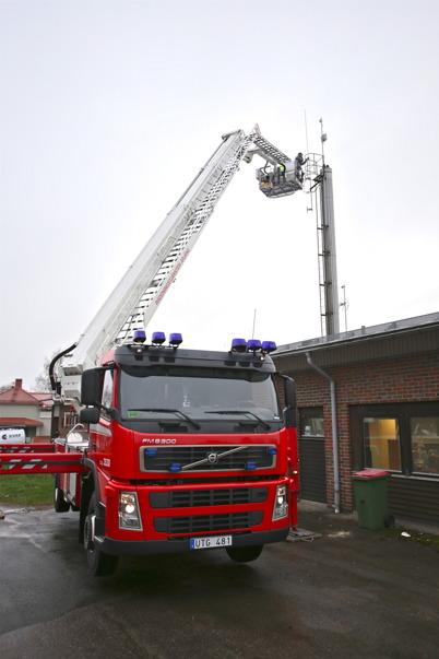 6 november 2015 - Räddningstjänstens skylift.