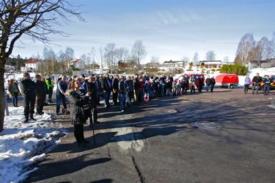 Många togs sig till brandstationen för att vara med om invigningen.