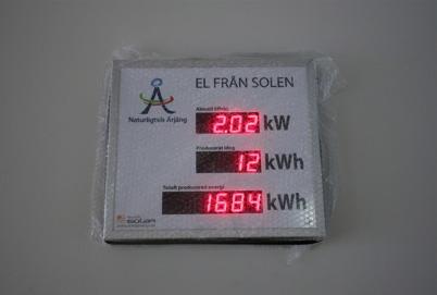 Mätning av energin från solen i Nordmarkens skola i Årjäng.
