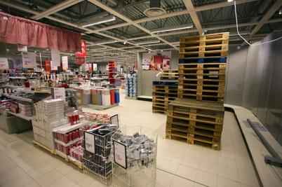 21 januari 2016 - Nu töms gamla RUSTA-butiken på varor.