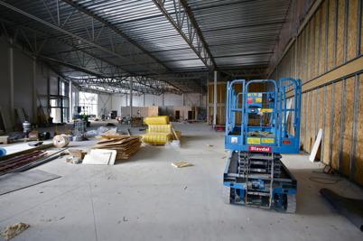 22 februari 2016 - I södra delen av Handelsparken pågår bygget av ICA butiken.
