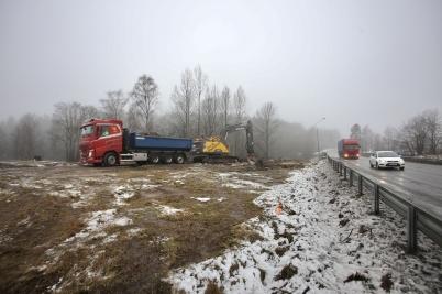 18 januari 2017 - Och arbetet med nya in- och utfarten vid Älverud tog fart.