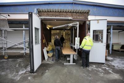 20 januari 2017 - Nokalux flyttade sin verksamhet på Ståltorpets industri-område till f d ERRES-lokalen på Skärmon.
