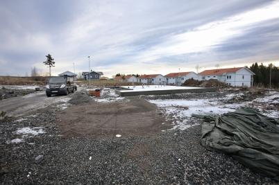 20 januari 2017 - På Prästnäset startade byggnationen av fem parhus.