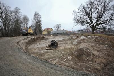 25 januari 2017 - Och vid Älverud fortsatte arbetet med nya vägen.