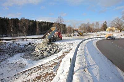 7 februari 2017 - Och vid Älverud fortsatte vägarbetet.