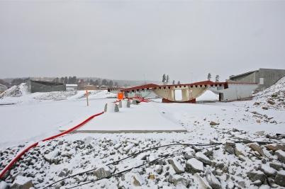 8 februari 2017 - I Örje hade de första delarna till bron Norgesporten anlänt från Baltikum.