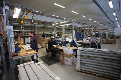 9 februari 2017 - Och så var produktionen igång i Nokalux nya fabrik.