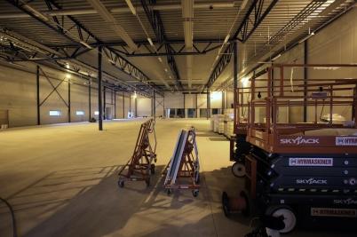 24 april 2017 - Nya industrihallen vid Flexit var i det närmaste klar.