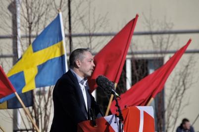 1 maj 2017 - På Claras torg i Årjäng höll Socialdemokraterna första Maj möte.