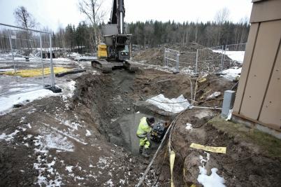 27 februari 2017 - Vid vägarbetet på Älverudsområdet fortsatte det underjordiska arbetet.