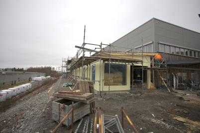 13 mars 2017 - Flexit´s nya kontor fick väggar.